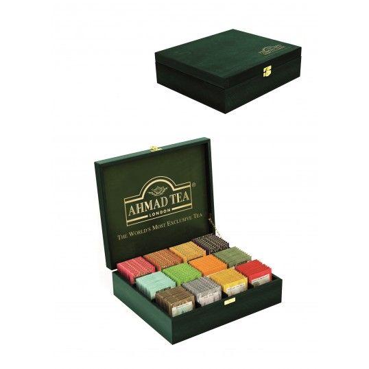 Ekskluzywny zestaw herbat w drewnianej skrzynce 120 kopert